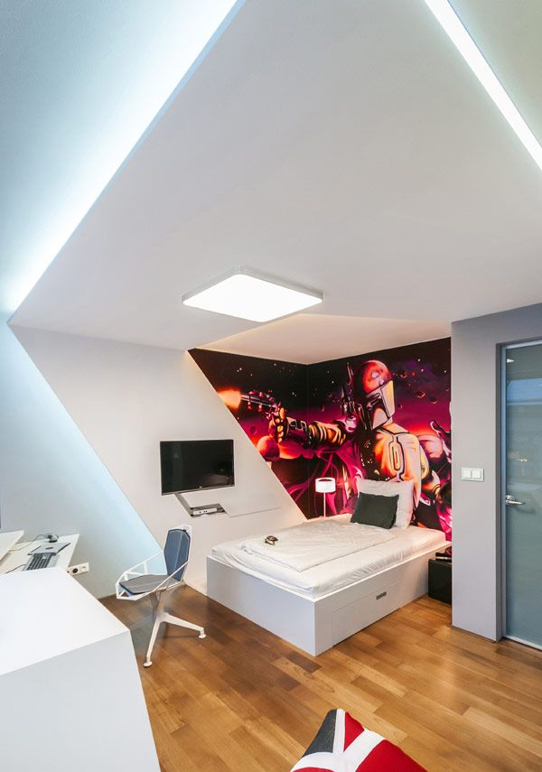 fabulous contemporary kids bedrooms steal the show with an exciting design - Metallic Kids Room Interior