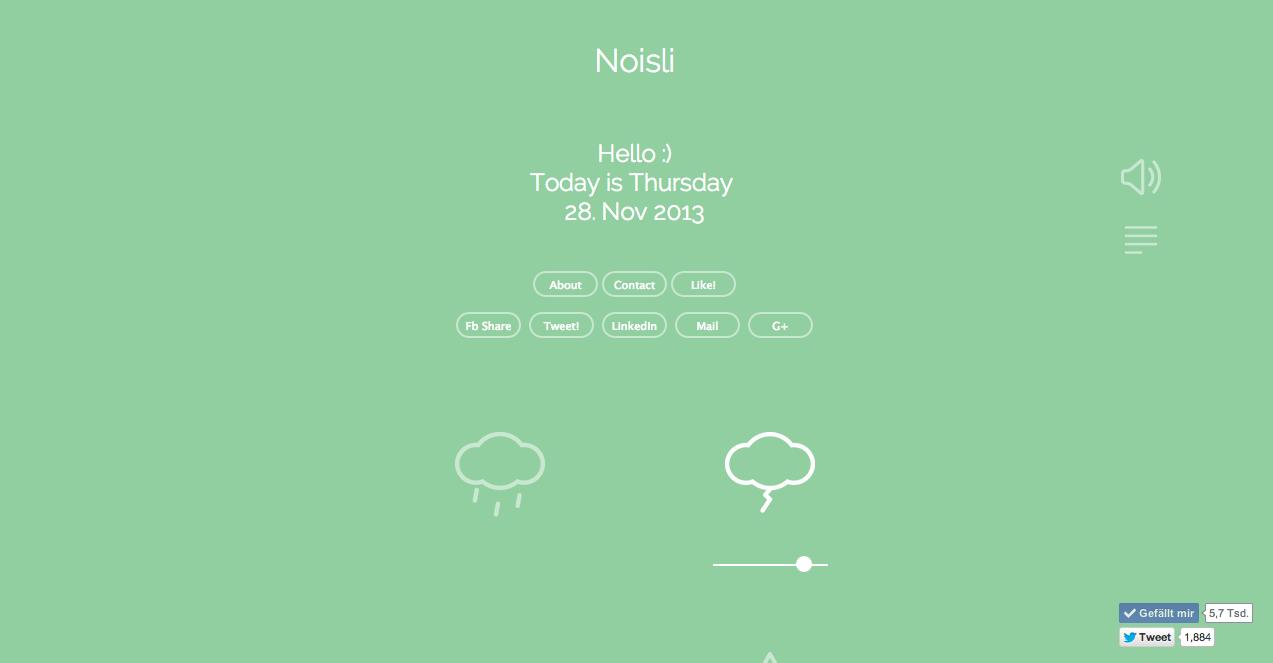 Dienste, die begeistern: Noisli.com