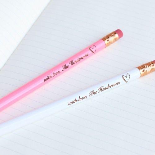 Personalized Wedding Pencils