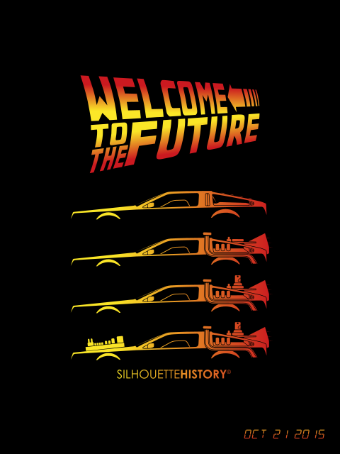 Silhouettehistory Time Machine Silhouettehistory Silhouettes Of Back To The Future Tattoo Back To The Future Future Wallpaper