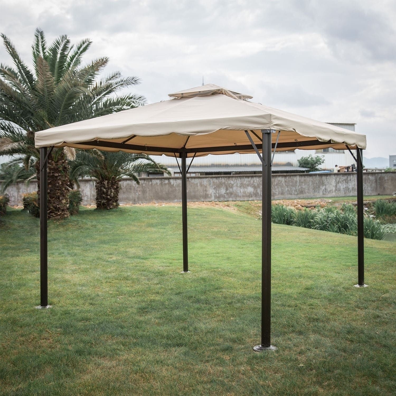 Kinbor Outdoor Gazebo Patio Gazebo Pop Up Canopy Tent W Mosquito