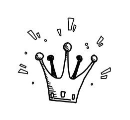 Crown Doodle A Hand Drawn Vector Doodle Illustration Of A Shiny Crown Crown Illustration How To Draw Hands Crown Drawing