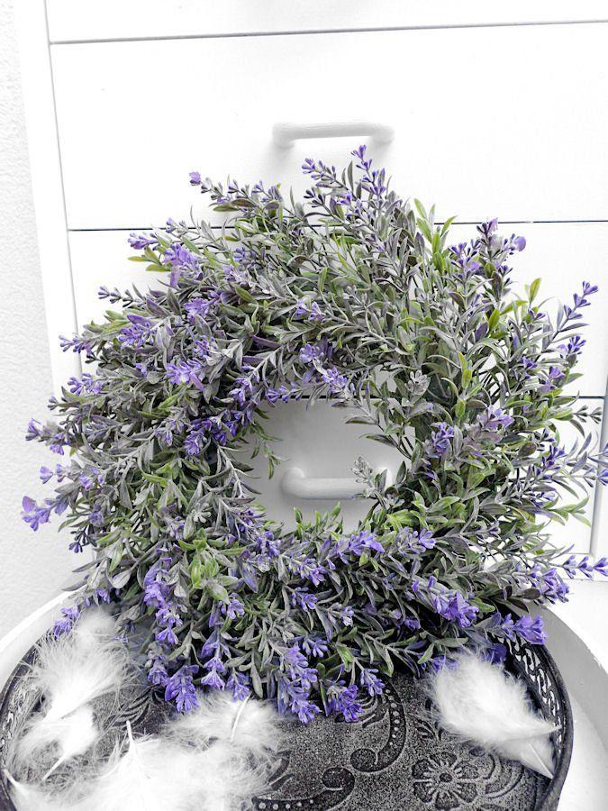 Photo of Krans LAVENDER kunstig holdbar dørkrans høstbord krans borddekorasjon høst krans dekorasjon sommer høst