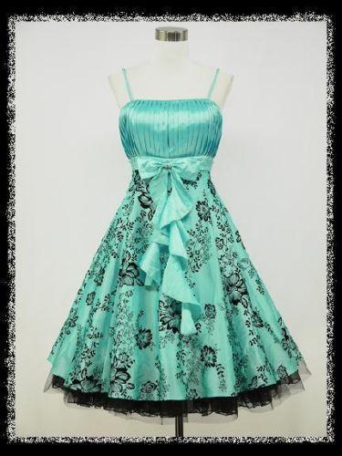 dress190-Blau-50er-Jahre-Rockabilly-Party-Cocktail ...
