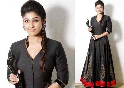 Nayanthara Black Saree With Images Nayanthara Hairstyle Hair Styles Saree Hairstyles