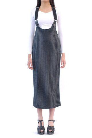 Sydney Striped Highwaisted Suspender Skirt
