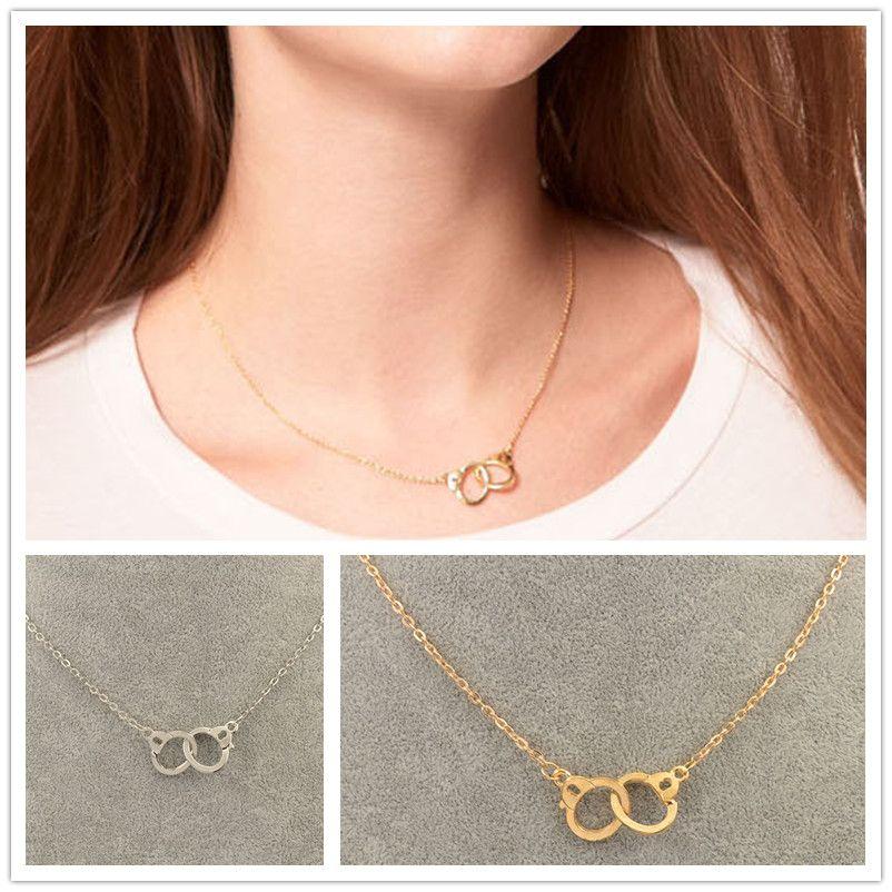 Nova moda jóias colar de pingente de Algemas presente para menina das mulheres 1 lote = 2 pieces N1735