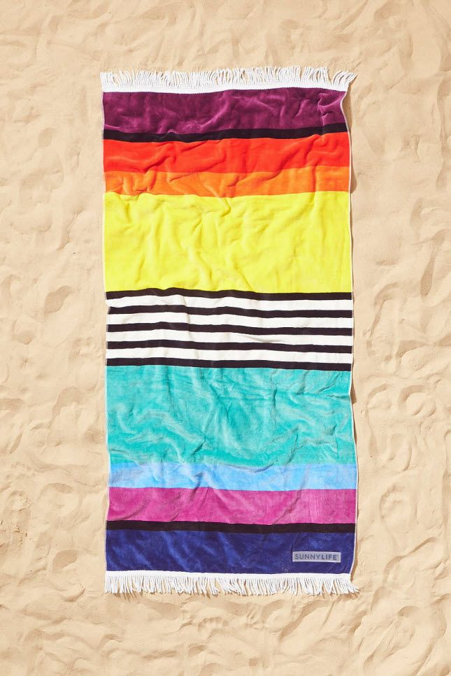 Why Pick Just One Color When You Can Have It All Striped Beach