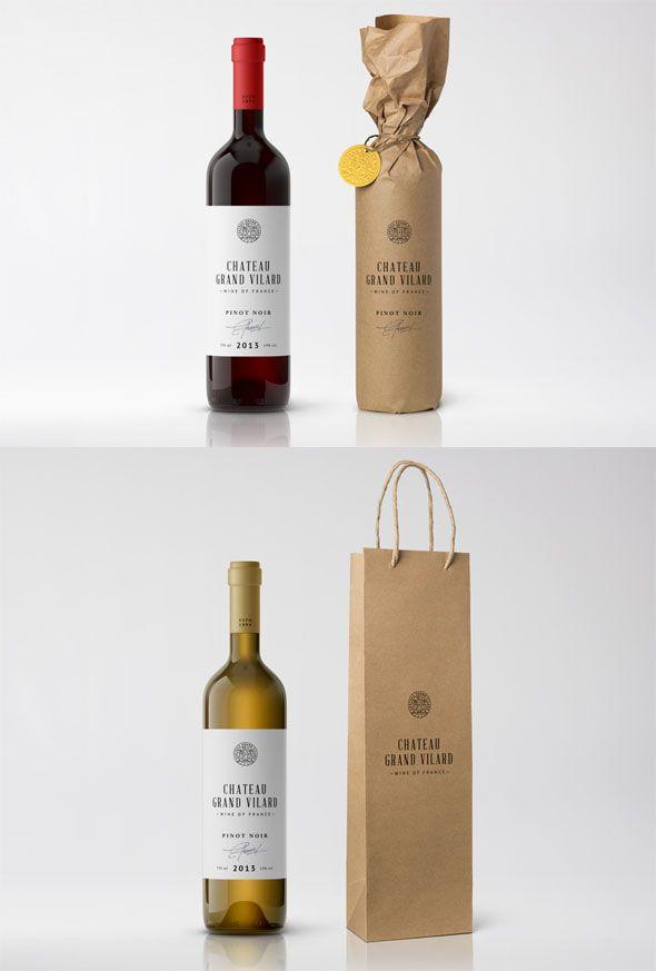 30+ Photo Realistic Wine Bottle Packaging Mockups. Label DesignBottle ...  Free Wine Label Design