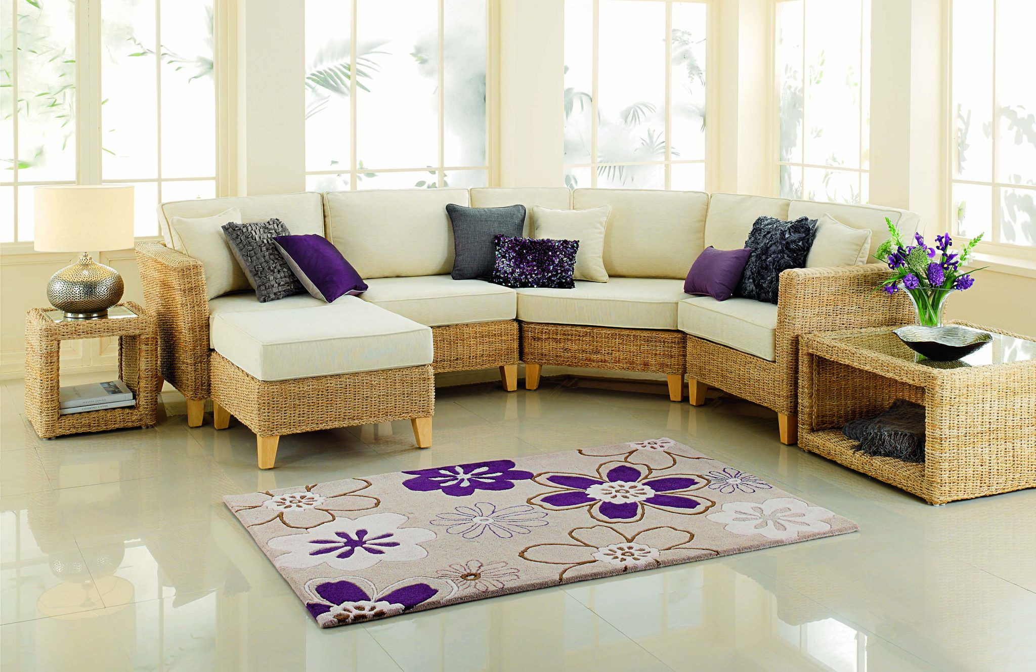 Pebble Banana Leaf Corner Unit With Angled Sofa There Are 2 Other Options