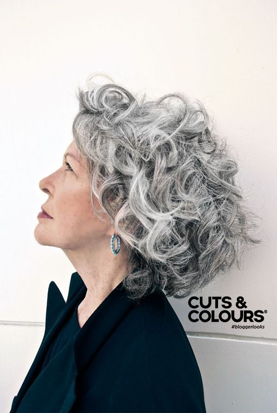 Krullen Salt And Pepper Grey Curly Hair Short Curly Hair