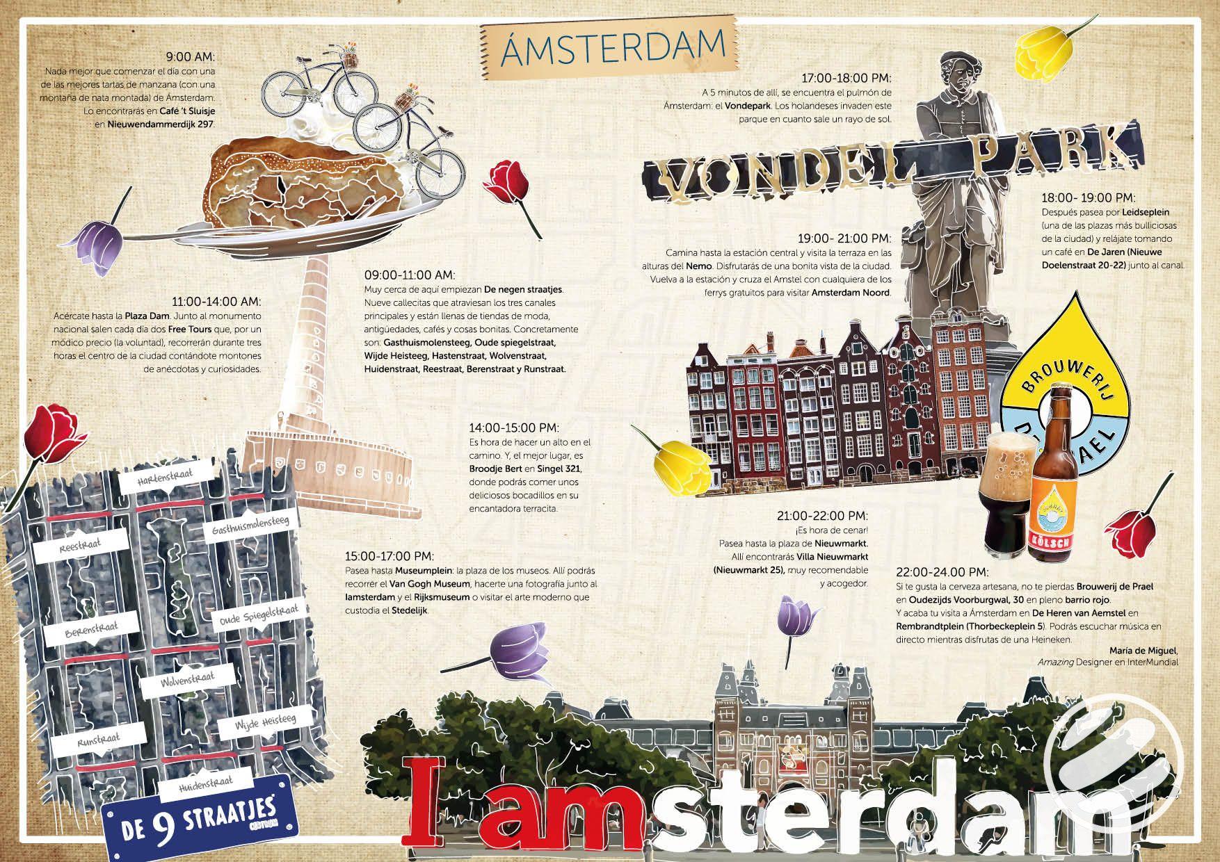 Guía De Viaje Para Conocer Amsterdam En Un Día Amsterdam Guia De Viaje Diario De Viaje