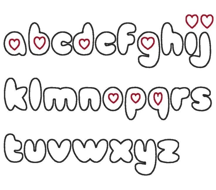 Girly Bubble Letters Alphabet Letters Example For Great Of Girly