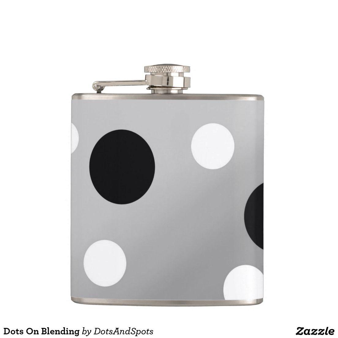 Dots On Blending Hip Flasks