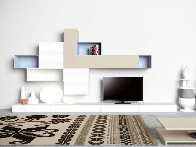 Meuble Modulable Salon 25 Designs Accrocheurs Meuble Modulable Unites Unites Murales Tv