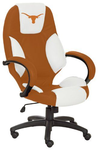 NCAA Texas Longhorns Leather Office Chair Featured Furniture