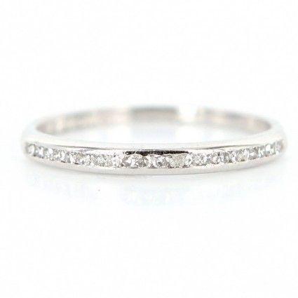 Vintage Art Deco Platinum Diamond Wedding Band Ring Size 8 Platinum Diamond Wedding Band Wedding Ring Bands Diamond Wedding Bands