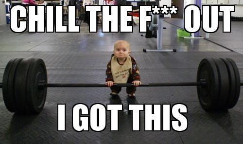 Funny Training Meme : Baby weightlifting meme slapcaption the best of