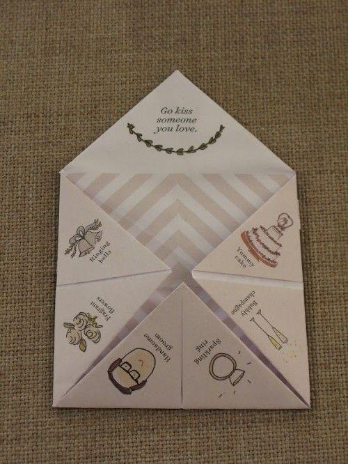 jolie animation  les cocottes en papier  mariage