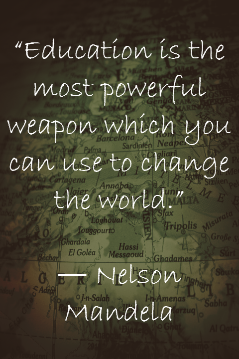 Nelson Mandela Quote Education University Education College