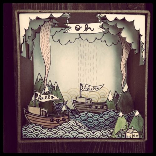 Lovely diorama by illustrator Brooke Weeber