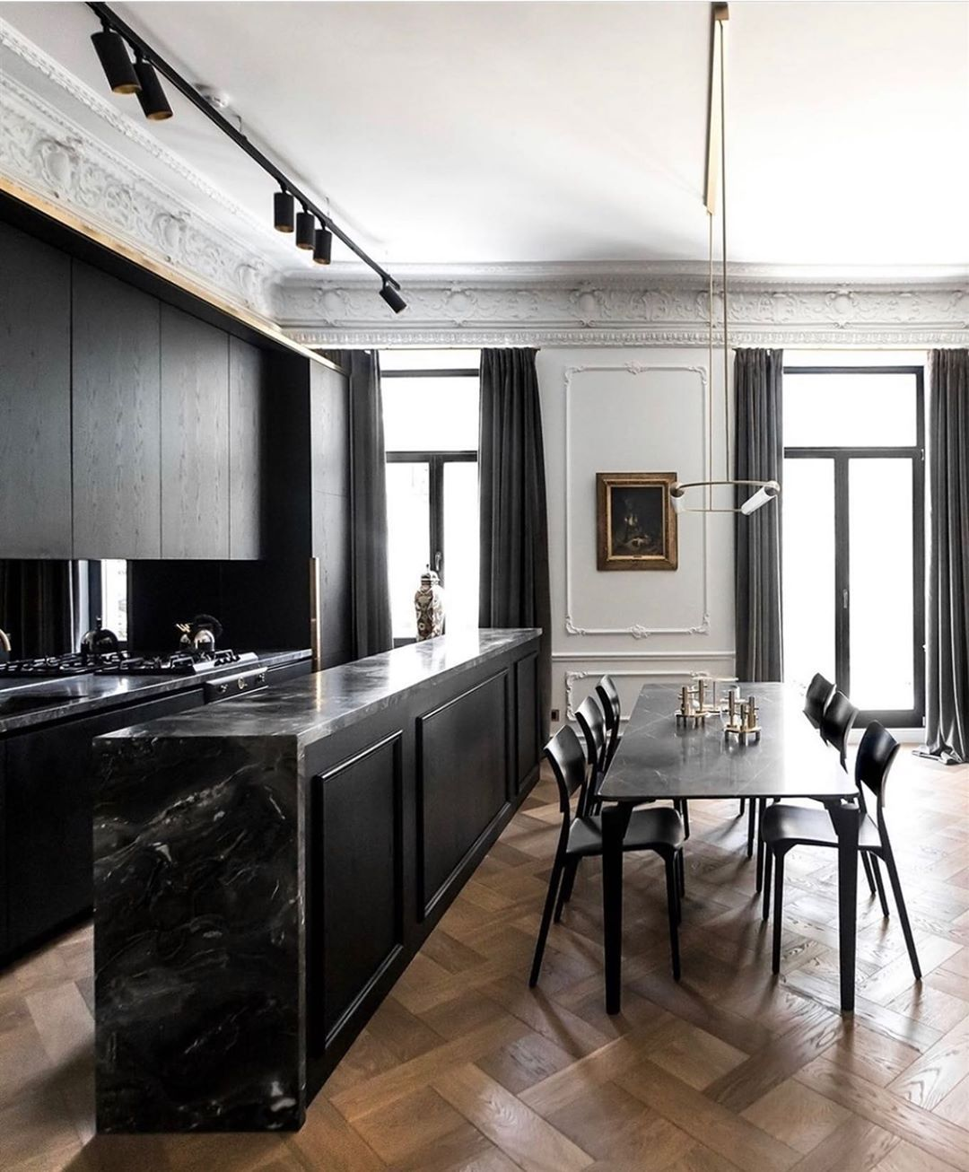 N I N A T A K E S H On Instagram An All Black Kitchen In