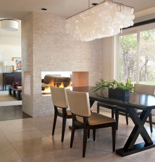 20 Gorgeous Two Sided Fireplaces For Your Spacious Homes Dining
