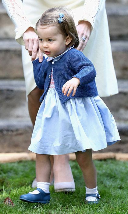 Princess Charlotte took her first public steps at the same party in Canada, and melted a few hearts!  Photo: © Getty Images