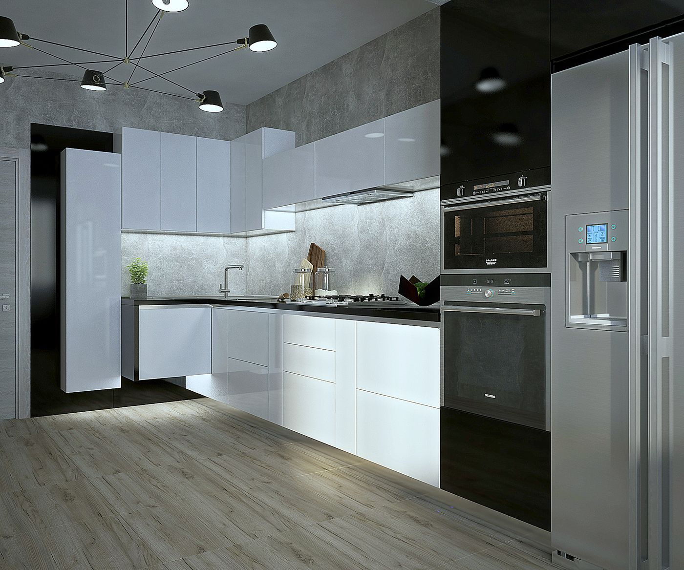 Black & White Modern Kitchen Design | kitchens | Pinterest | Modern ...
