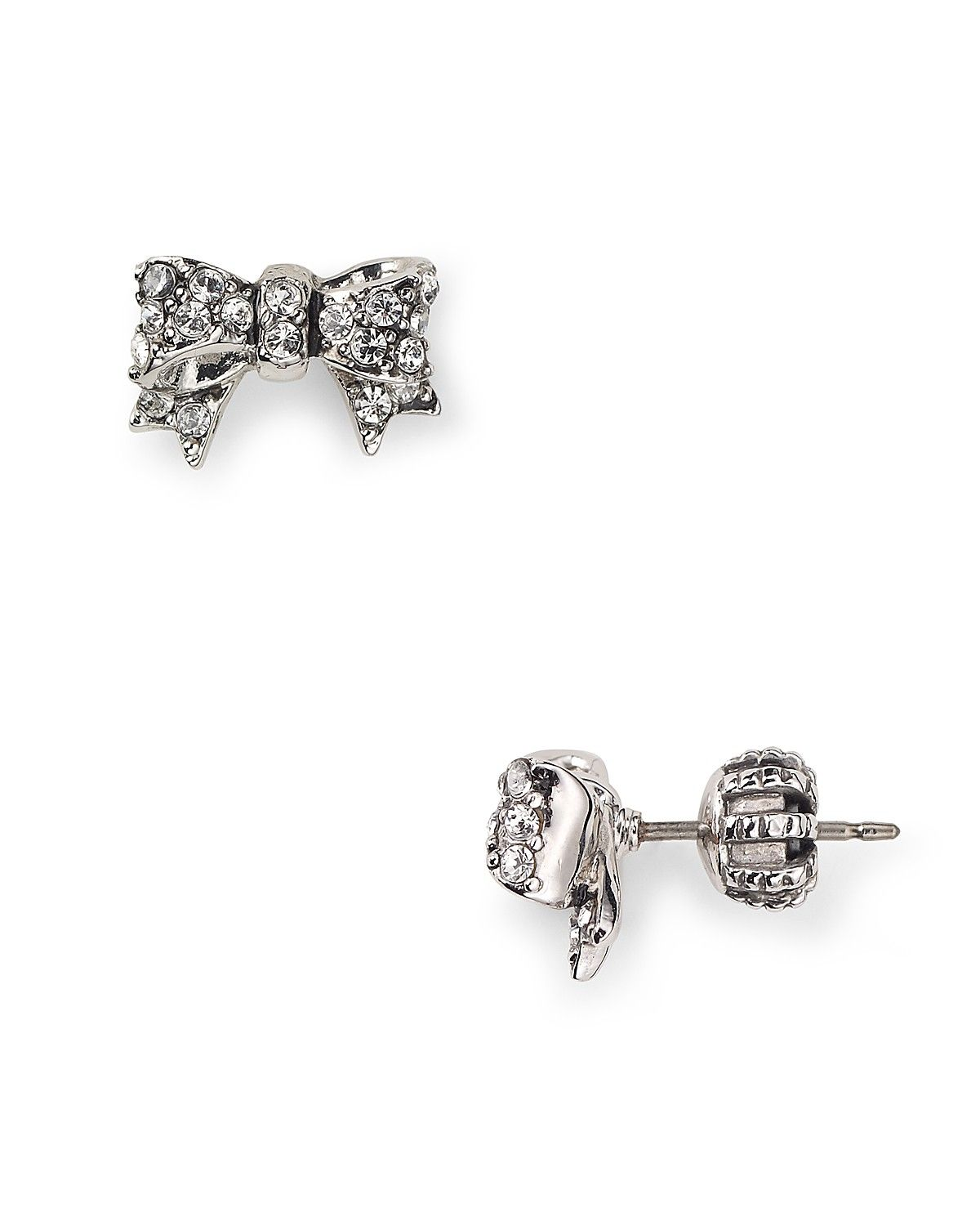 Juicy Couture Pavé Bow Stud Earrings