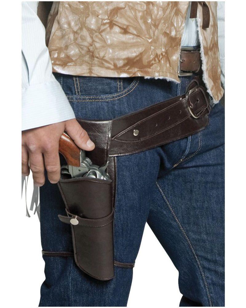 WILD WEST 2 GUNS /& HOLSTER COWBOY INDIAN FANCY DRESS