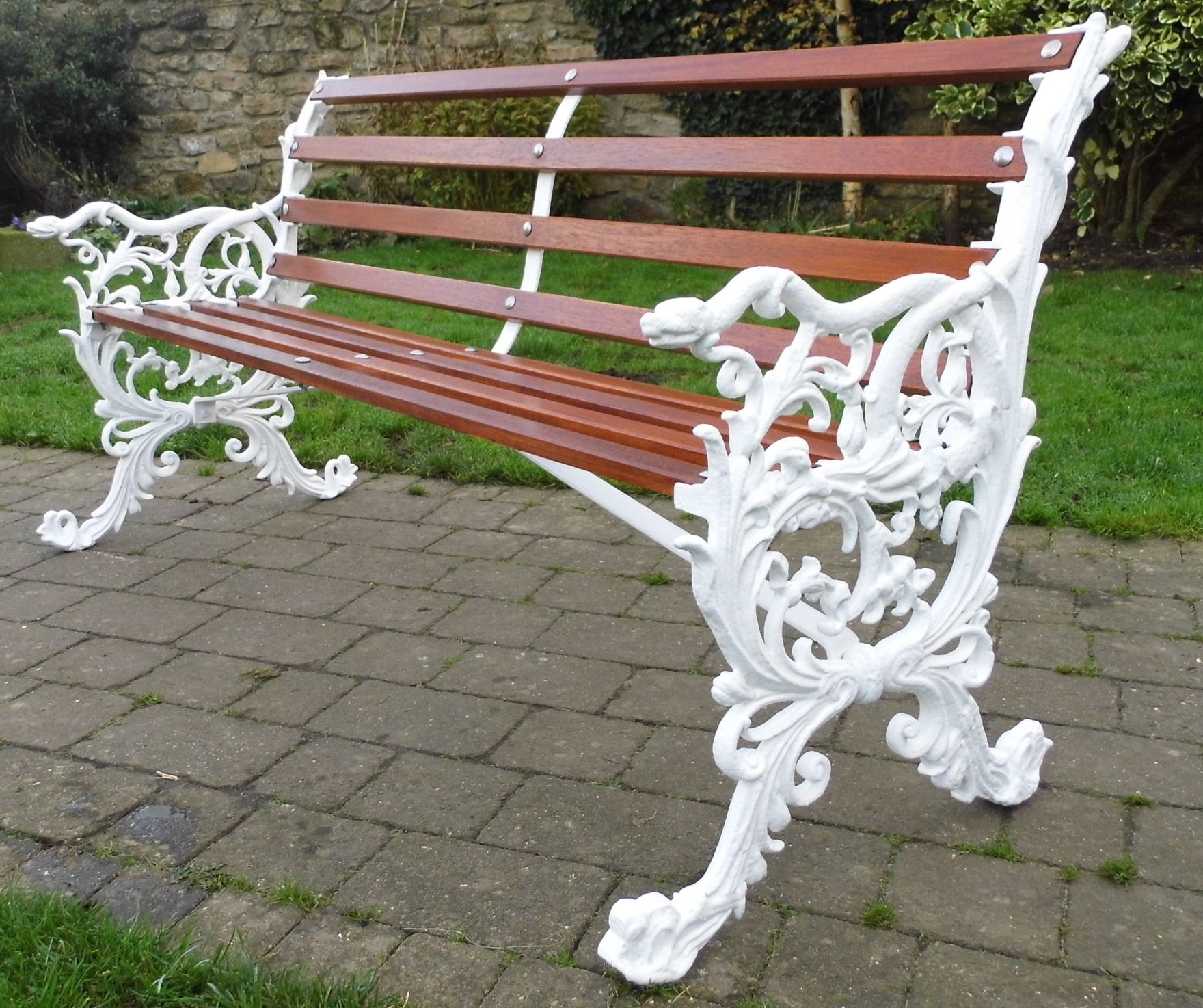 Antique Cast Iron Bench By Archibald Kendrick Fully Refurbished