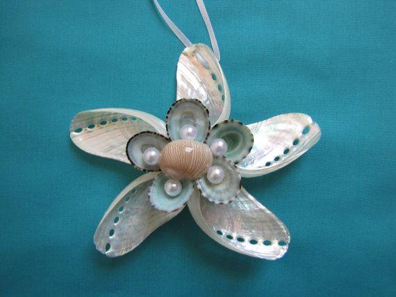 Abalone Shell Star Ornament Beach Decor by TheSleepySeahorse