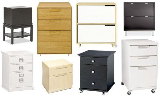 roundup: good-looking file cabinets | misc. organizing ideas