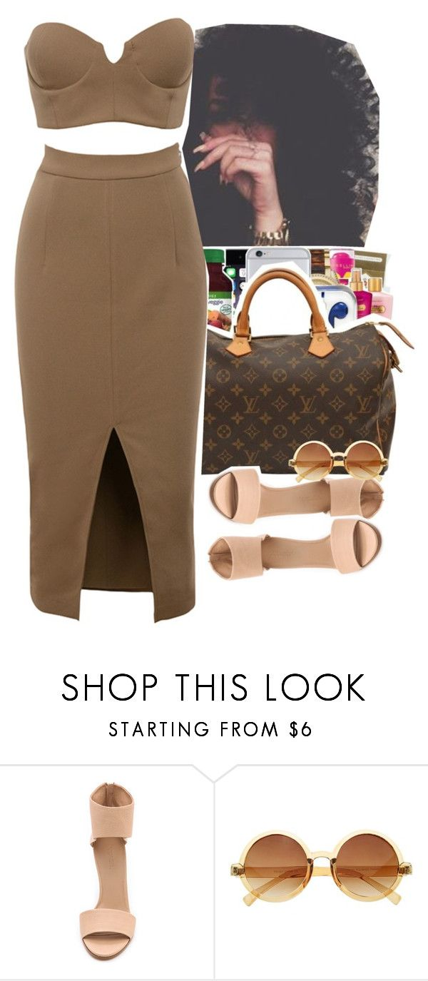 """""""nude two piece"""" by jchristina ❤ liked on Polyvore featuring Vince"""