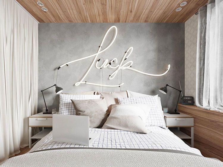 Decorazioni Camere Da Letto Moderne : Decorazioni per pareti della camera da letto: 125 idee originali