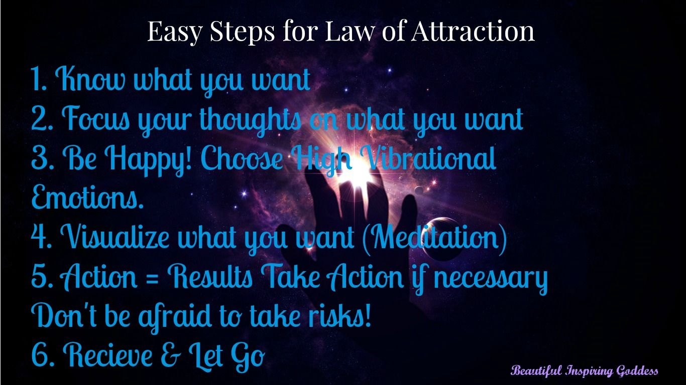 Easy Steps For Law Of Attraction