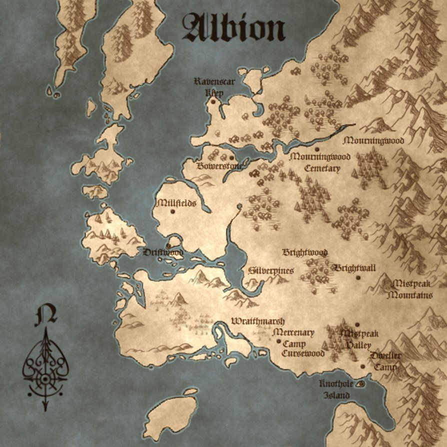 Fable III Illuminated Map | For Albion! | Map, Fantasy map, Fable 3