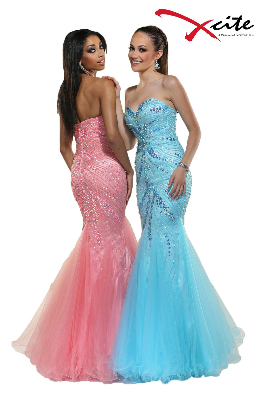 30595 in cotton candy #pink and #blue with a gorgeous #mermaid tail ...