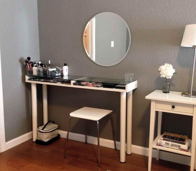 custom makeup vanity sets. Furniture  Custom Corner Makeup Vanity Table With Storage Under Glass Top Wall Mounted Oval Mirror And Wood Lamp Drawer Ideas Makeup Vanity Sets For Sale Http Realblondehexe Info VANITY