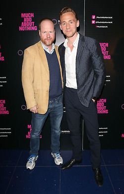 Tom Hiddleston and Joss Whedon attend a gala screening of 'Much Ado About Nothing' at The Apollo Piccadilly on June 11, 2013 in London, England
