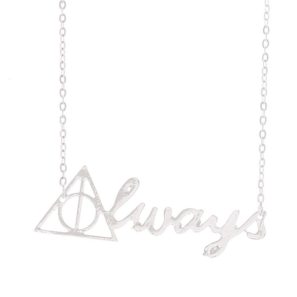 Homod Silver Color Harry Potter Necklace Death Holy Spirit