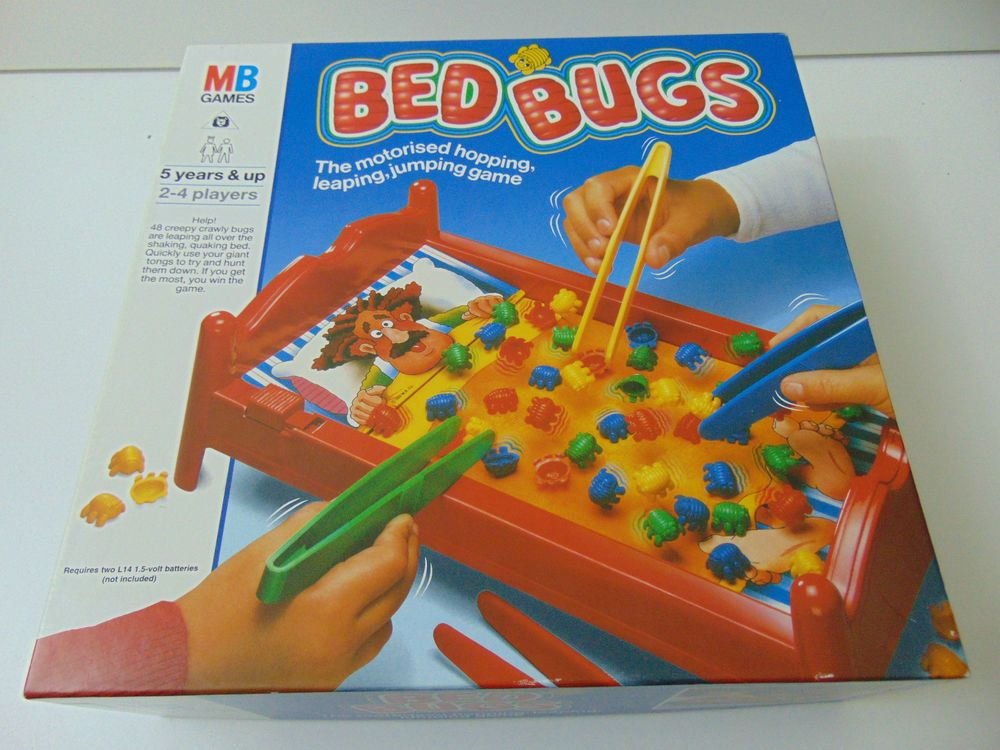 Retro Toy 1980 S Mb Bed Bugs Game Excellent Condition Vintage Free