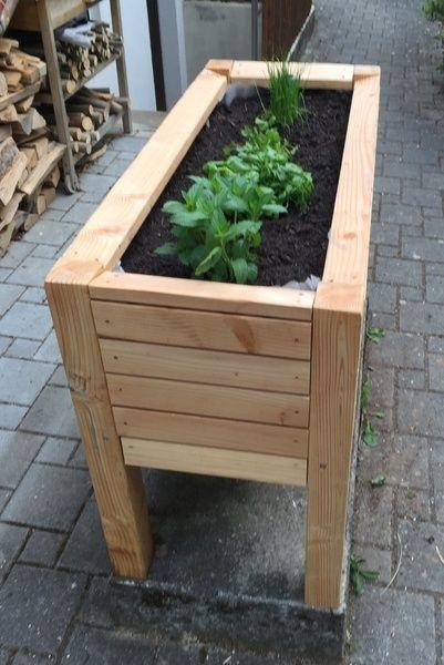 Bac A Plantes Legumes Par Flo Avec Images Boites De Jardin