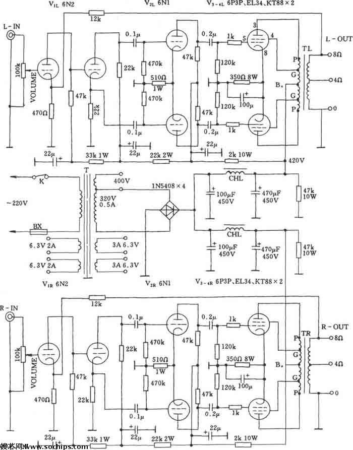Astounding 6P3 El34 Kt88 Schematic In 2019 Valve Amplifier Vacuum Tube Wiring Cloud Brecesaoduqqnet