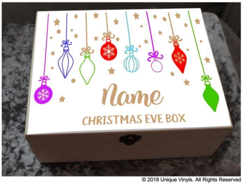 digital print sticker DIY Christmas Eve Box Personalised Christmas Box Sticker