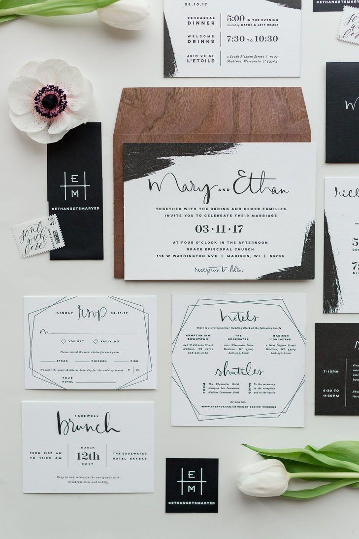 Beautiful Modern Wedding Invitation Set Weddinginvitation Modern Wedding Invitation Sets Wedding Invitation Sets Unique Wedding Invitations
