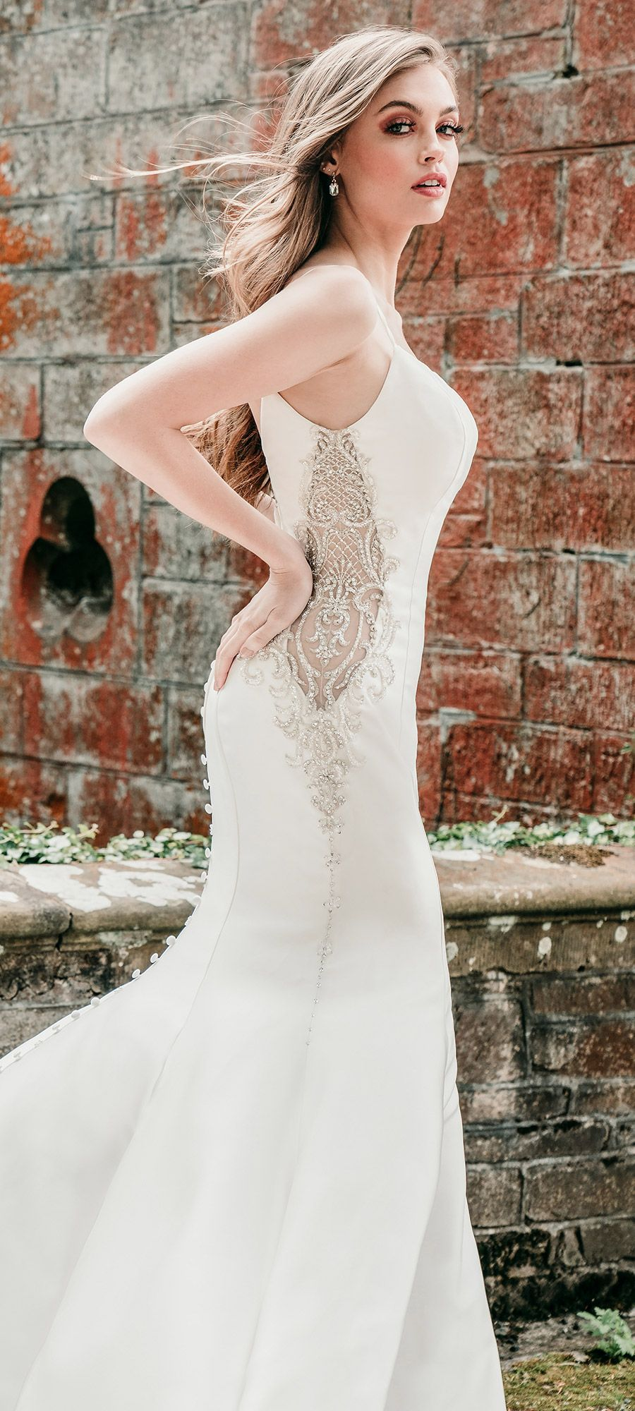 Allure Bridals Wedding Dress Style 9731 This Modern Mermaid Gown With Straps By Allurebrid Wedding Dresses Allure Bridal Wedding Dress Bridal Wedding Dresses [ 2000 x 900 Pixel ]
