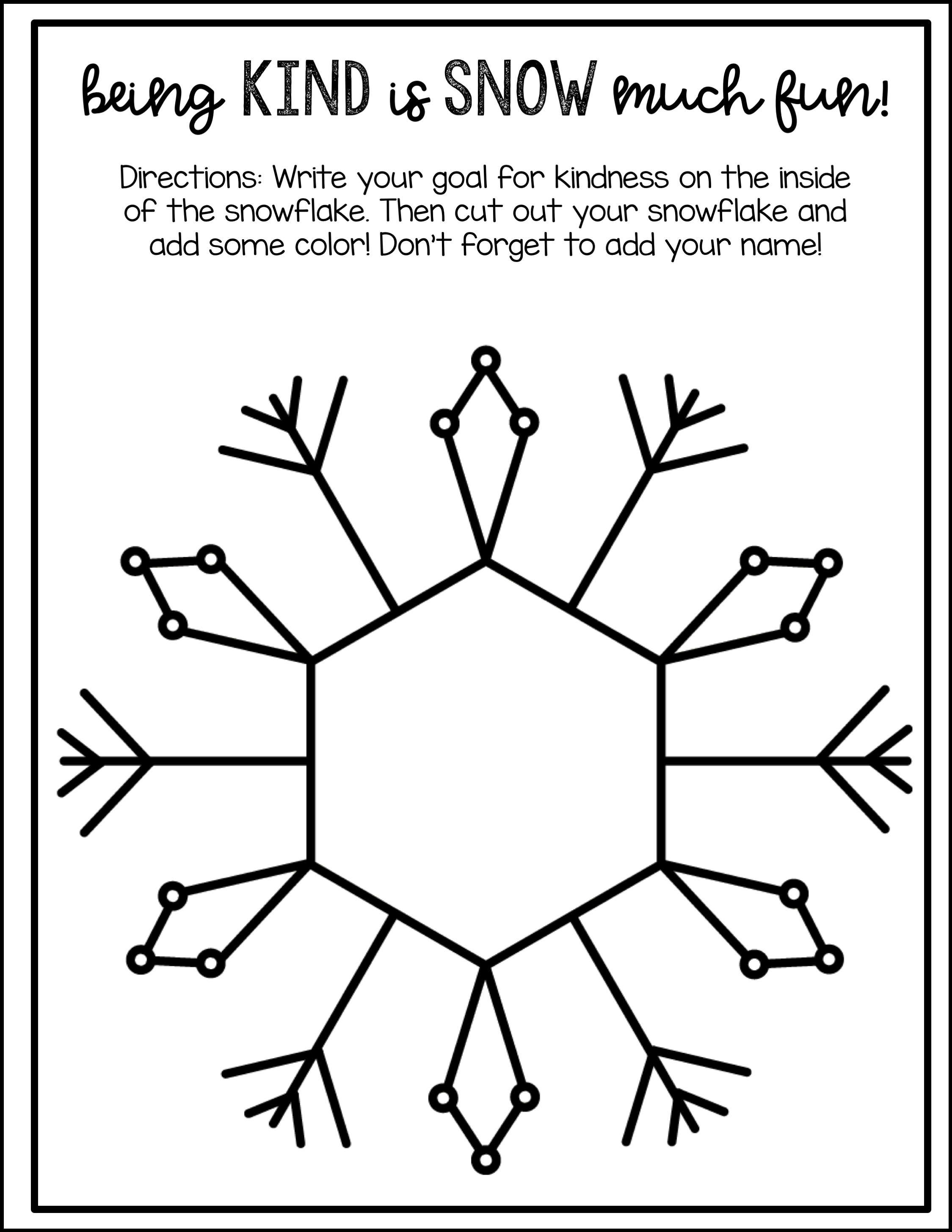 New Year S Snowflakes Of Kindness Affirmations And Goals