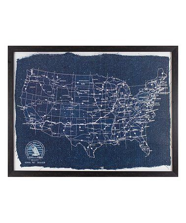 Loving this Blueprint Map of America Framed Print on #zulily! #zulilyfinds
